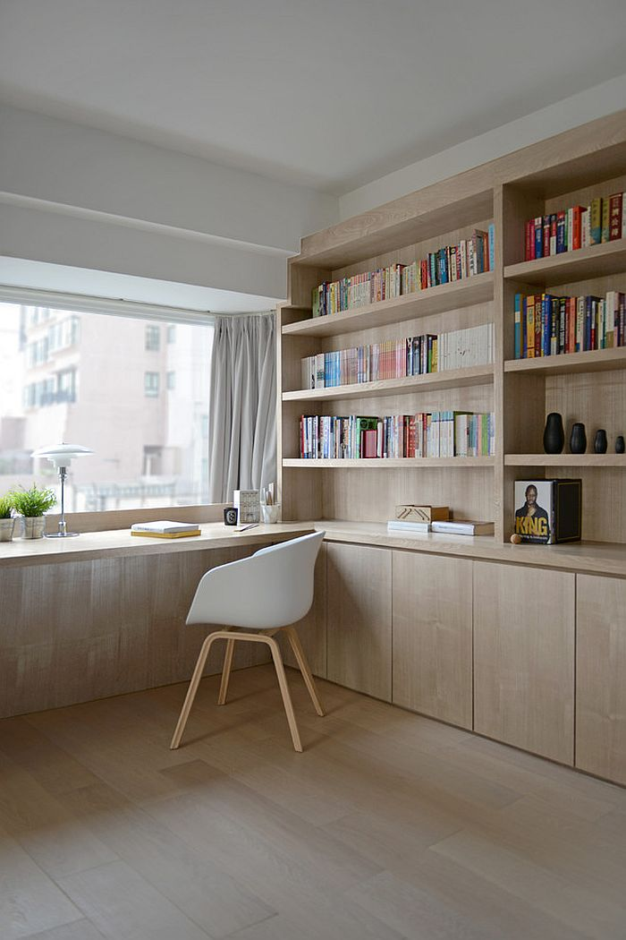 ... Large Window Brings In Ample Natural Light Into The Home Office [Design:  Hoo Interior