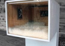 Leo Kempf Modern Cat House with custom artwork