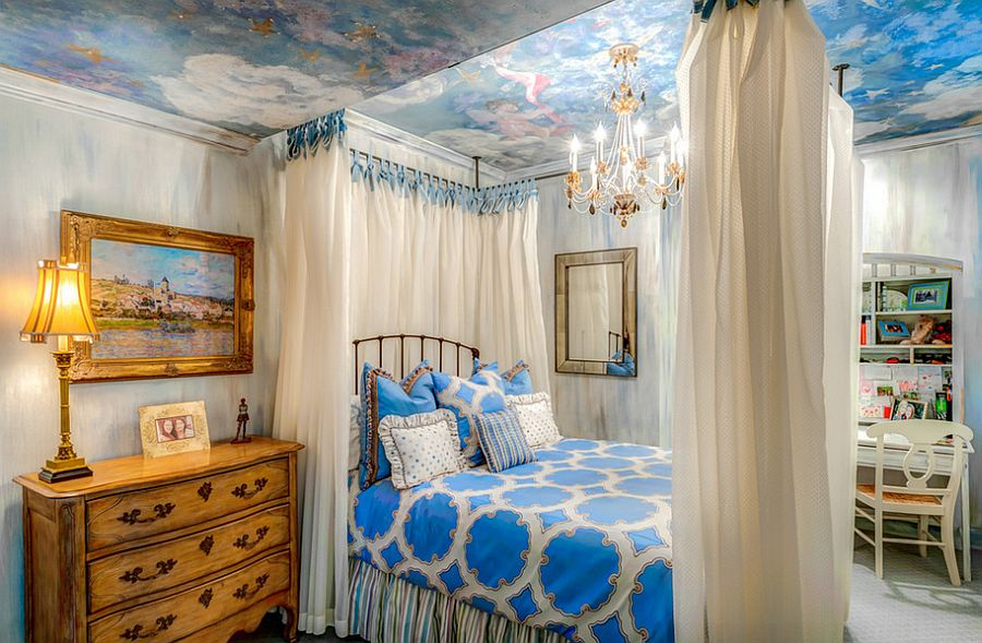 Let the bedroom ceiling tell a story [Design: Felicia Ferguson Interiors]