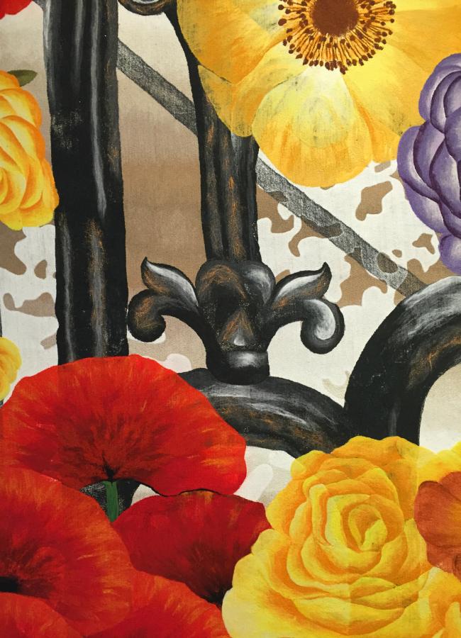 A close-up of Liora Manne's art