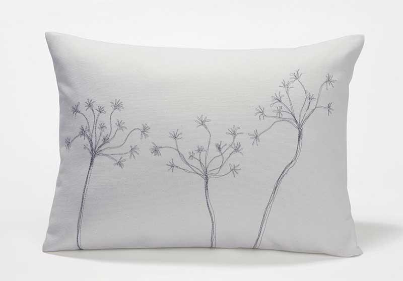 Ice Blue Throw Pillows : Live Good Ice Blue Organic Throw Pillow - Decoist