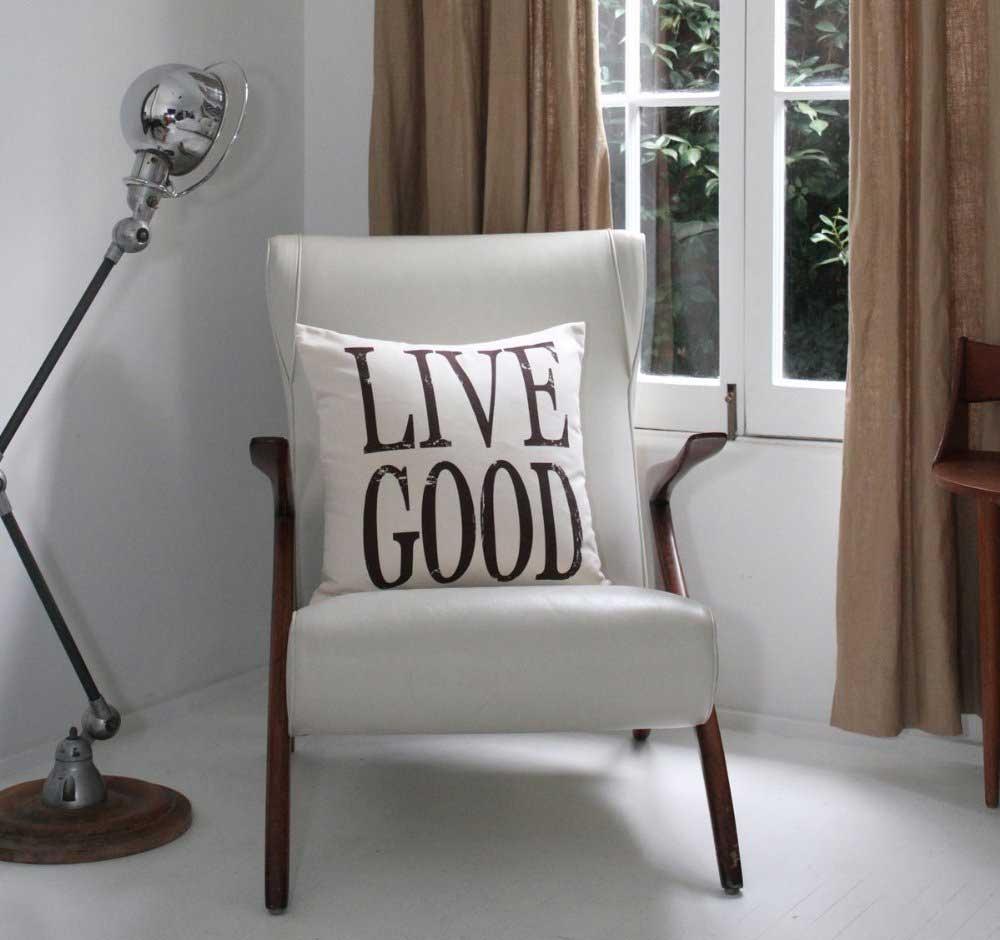 Live Good Organic Cushion on Chair