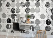 Lovely-custom-wall-coveing-for-the-black-and-white-home-office-217x155