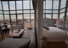 Lower East Side Penthouse Bedroom and Dining Room
