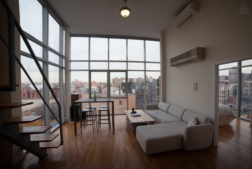 View in gallery lower east side penthouse with floor to ceiling glass walls
