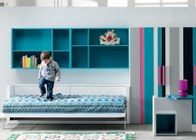Milano Smart Living Bed with Mural  Open