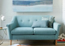 Minty loveseat from West Elm