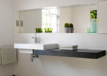 Modern bathroom with one main accent color