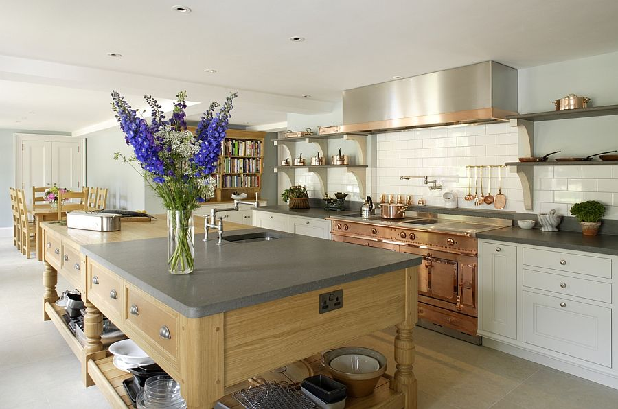 Modern edwardian style kitchen with bespoke desgn from Artichoke Gorgeous Bespoke Kitchen Combines Modern Luxury with Edwardian Charm