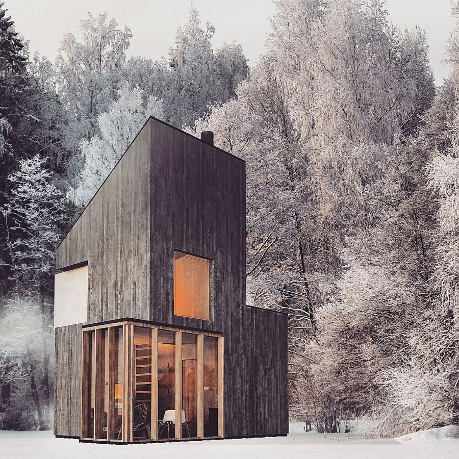 View In Gallery Modern Wooden Shelter And Ski Hut With Gorgeous Minimal Design