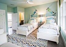 Natural ventilation adds to the breezy tropical style in the bedroom