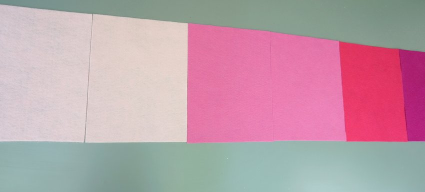 Ombre table runner in pink