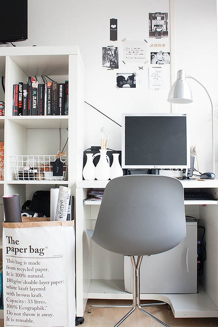 Organize your small home office in style [From: Louise de Miranda]