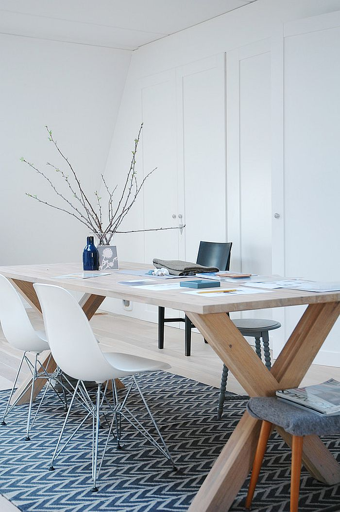 Organized modern home office in white [From: April and May Studio]