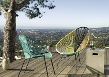 Outdoor lounge chairs from CB2 217x155 Summer Style: Brand New Decor with Seasonal Flair