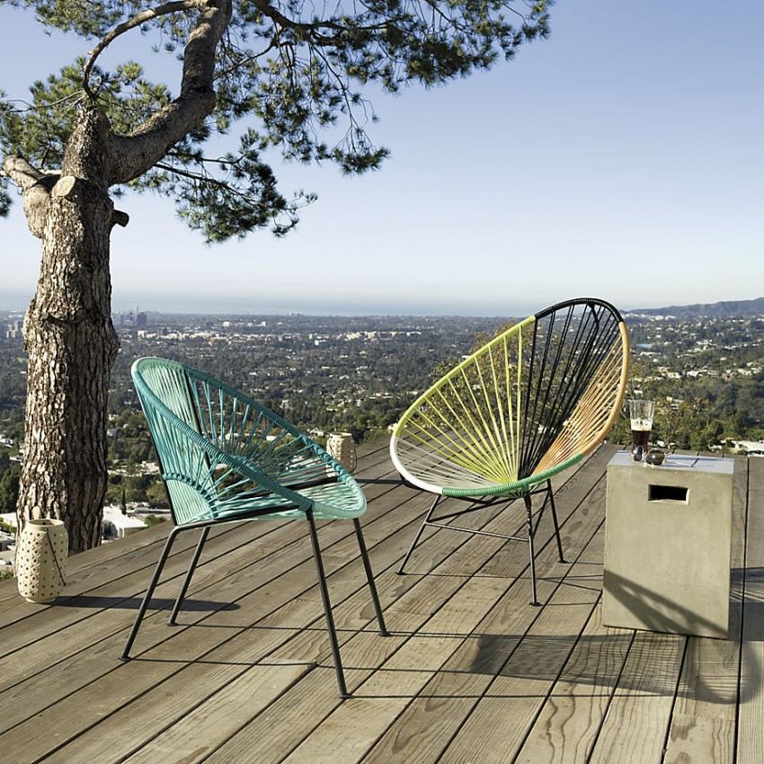 Outdoor lounge chairs from CB2