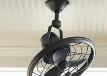 Outdoor oscillating ceiling fan