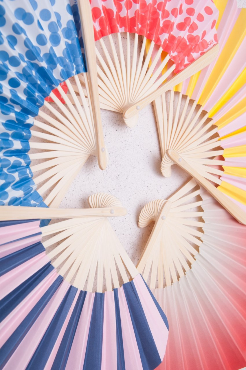 Paper fans from HAY