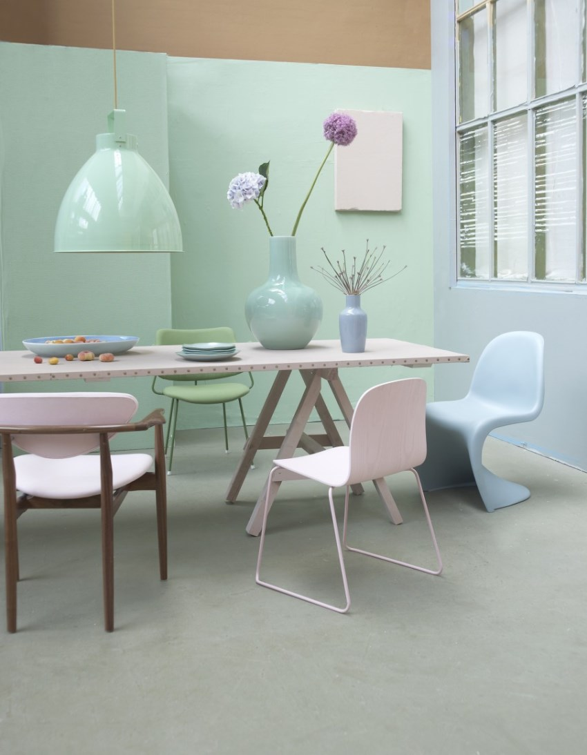 Modern pastel style Apartments using pastel to create dreamy interiors