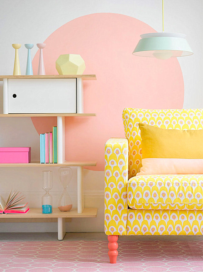 Modern pastel style for Decoration murale neon
