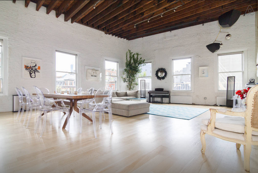 View in gallery Penthouse Loft on Bowery Great Room8 Swanky Airbnb Penthouses You Can Rent for the Night in New York City. Lofts In New York City For Rent. Home Design Ideas