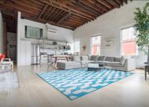 Penthouse Loft on Bowery large loft-style living room