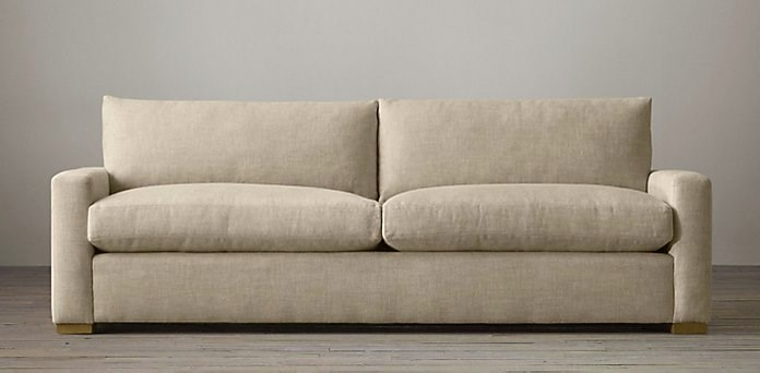 Petite upholstered sofa from Restoration Hardware