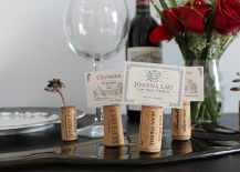 Placecard Holders Made out of wine corks
