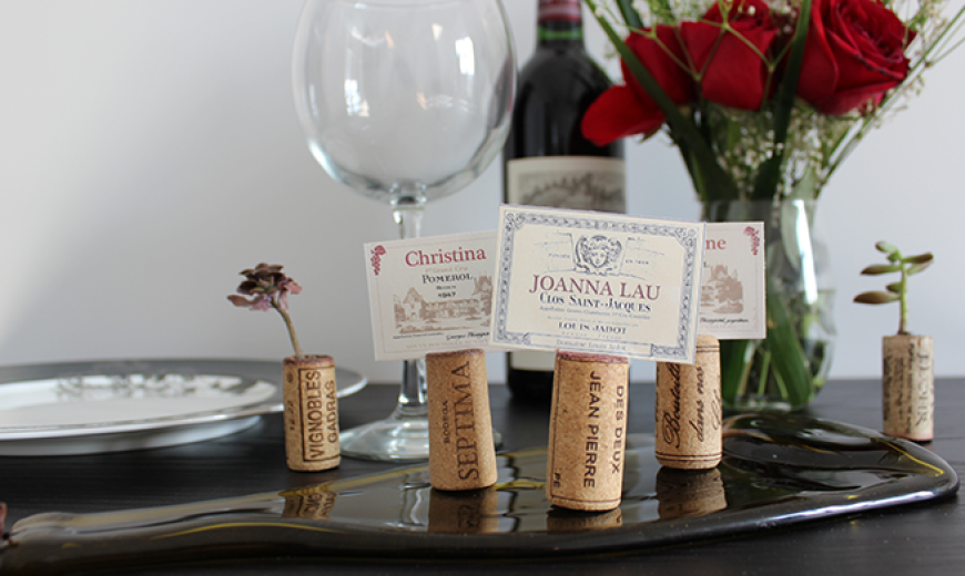 Diy How To Make Wine Themed Placecard Holders Out Of Recycled Corks
