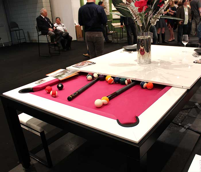 View In Gallery Pool Table That Transforms Into A Dinner Table