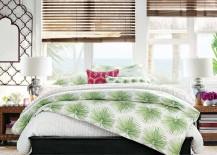 Pottery Barn Organic Bedding Green Palm Design