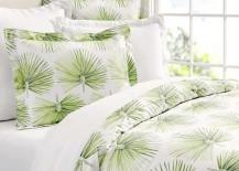 Pottery Barn Organic Bedding Green Palm Pattern