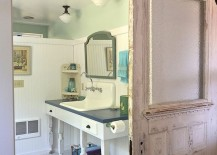 You don t have to embrace rustic or farmhouse styles completely to add a  barn door to your interior  and often the bathroom is the ideal place to  embrace  15 Sliding Barn Doors That Bring Rustic Beauty to the Bathroom. In The Bathroom. Home Design Ideas
