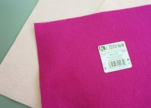 Remove the sticker from your felt sheets