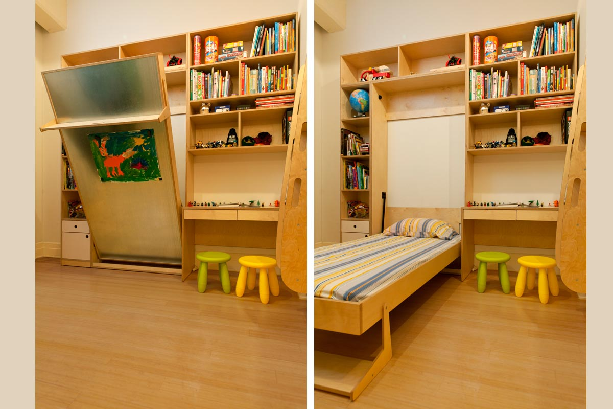 Room for siblings with foldout bed