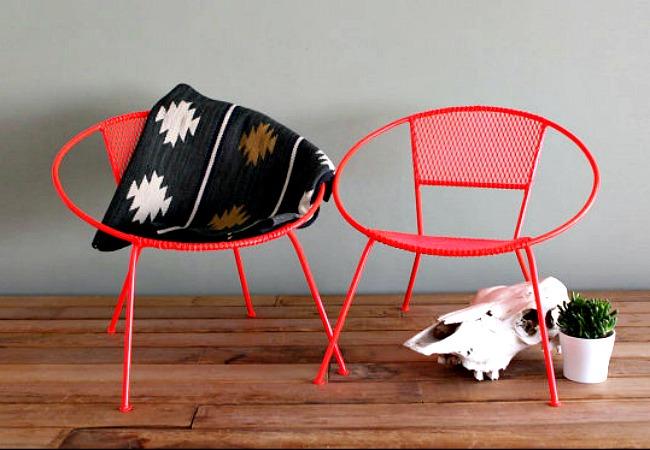 Classic midcentury modern Salterini chairs
