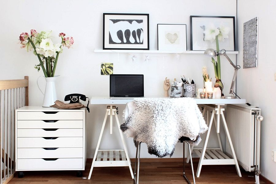 Scandinavian home office decorating idea