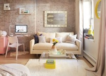 Shabby chic living room with lovely Scandinavian influence 217x155 Going Shabby Chic: Trendy Manhattan Triplex Shows You How!