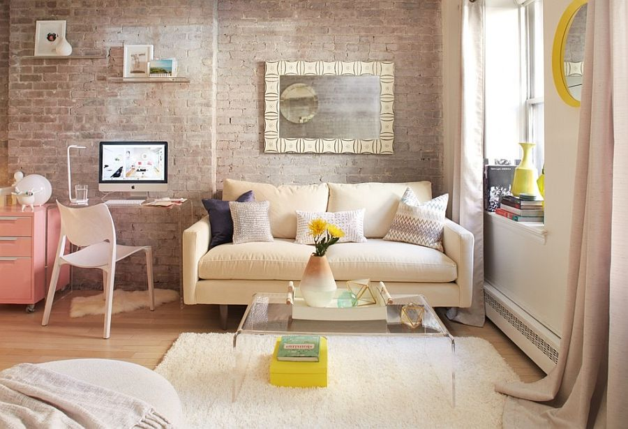 Shabby chic living room with lovely Scandinavian influence