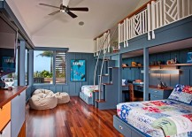 Shared kids bedroom with a relaxing tropical style 217x155 20 Kids' Bedrooms That Usher in a Fun Tropical Twist!