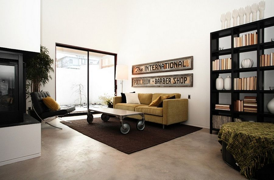 ... Sleek Coffee Table On Wheels Fits Into The Living Room Style Perfectly  [Design: Chris