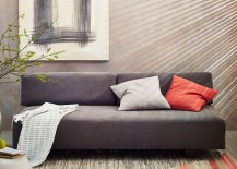 Sleek grey sofa from West Elm