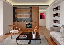 Sleek kitchen design makes smart use of space