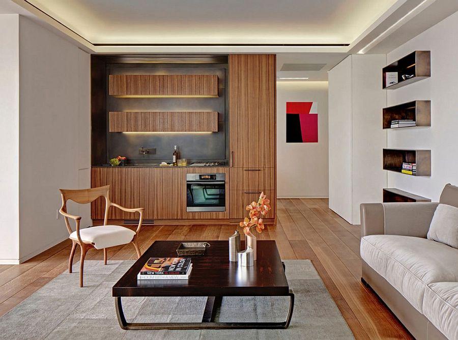 Sleek kitchen design makes smart use of space