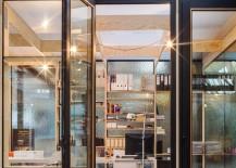 Sleek shelves and workdesks shape the ingenious office