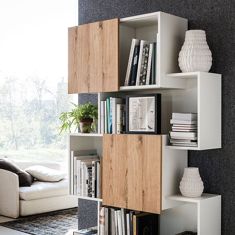 Gentil View In Gallery Sliding Doors Of The Bookshelf Give It A Dynamic Appeal