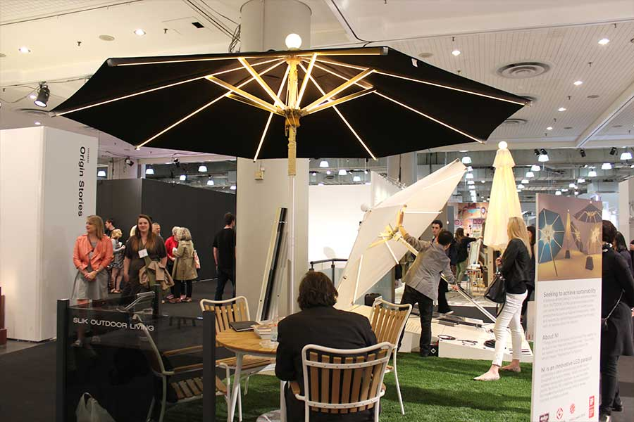 Slik Living LED Illuminated Parasol
