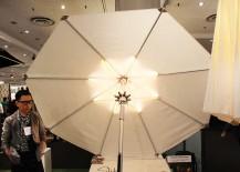 Slik Living LED Parasol White