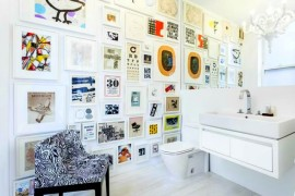 How to Use Art in a Small Bathroom