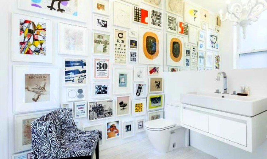 How To Use Art In A Small Bathroom, Small Bathroom Pictures Gallery